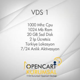 Opencart Sanal Sunucu Vds 1