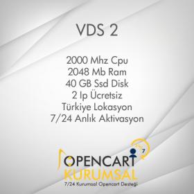 Opencart Sanal Sunucu Vds 2
