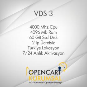 Opencart Sanal Sunucu Vds 3