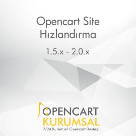 Opencart Site Hızlandırma Modülü (50 bin Ürüne Kadar Takılmadan)