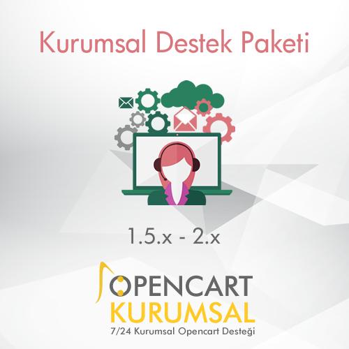 Opencart Kurumsal Destek Paketi / Aylık