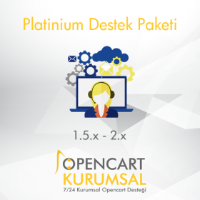Opencart Platinium Destek Paketi / Aylık