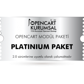 Opencart Platinium Modül Paketi