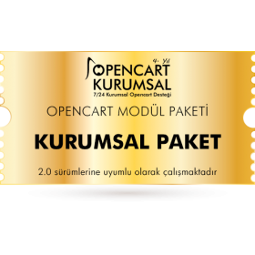 Opencart Kurumsal Modül Paketi