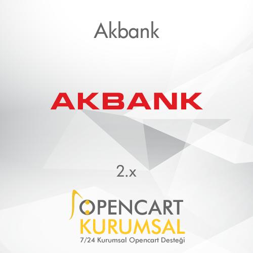 Opencart Akbank Ödeme Entegrasyonu