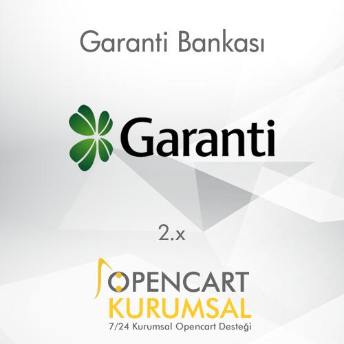 Opencart Garanti Bankası Ödeme Entegrasyonu
